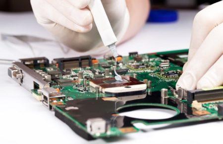 Замена термопасты на кристалле процессора ноутбука