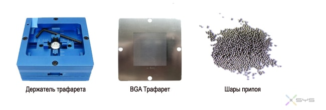 Подготовка к монтажу BGA компонента