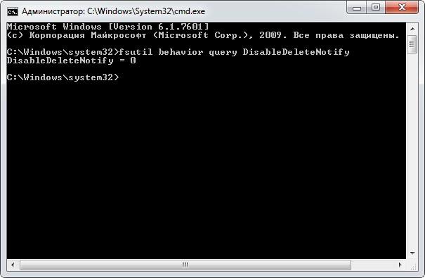 fsutil behavior query DisableDeleteNotify