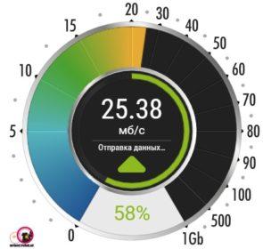 Проверка скорости интернета. Произвольный выбор сервера