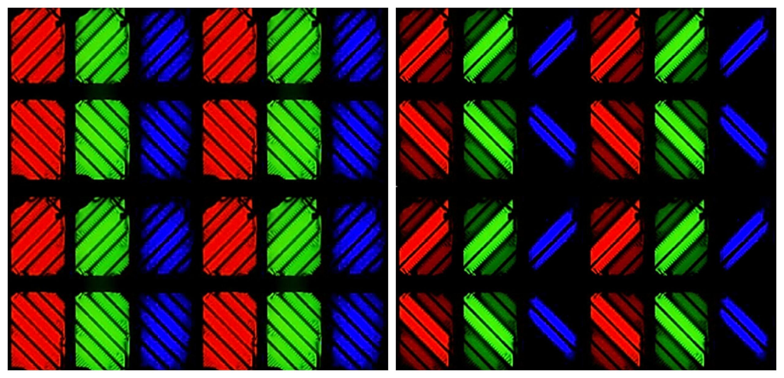 Структура пикселей A-MVA (Advanced MVA)